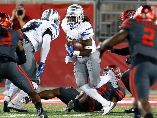 University of Memphis running back Darrell Henderson