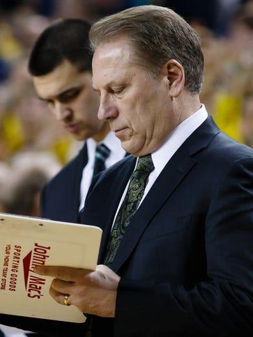 Michigan State Spartans head coach Tom Izzo before