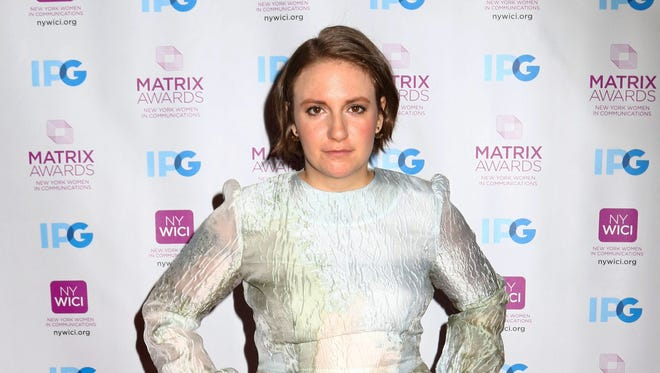 Lena Dunham attends the 2016 New York Women in Communications Matrix Awards in New York on April 25, 2016.