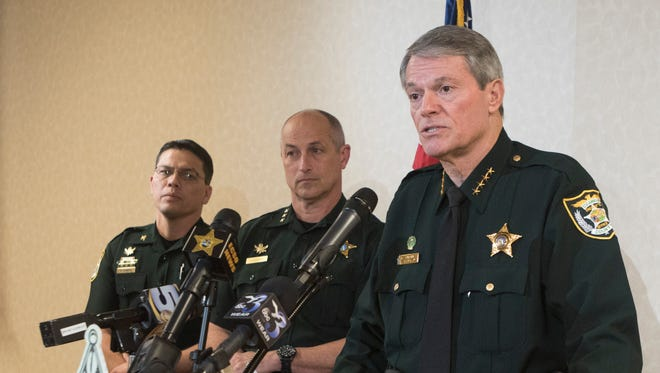 Escambia County Sheriff David Morgan announces Tuesday, Jan. 23, 2018, that Jose Garcia Montes has been arrested for kidnapping four children on Saturday, Jan. 20, 2018.