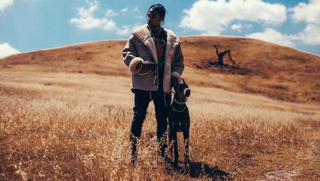 Hip-hop artist Travis Scott, 23, releases debut album 'Rodeo' on Friday.