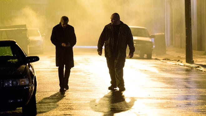 """Hugh Laurie as Eldon Chance and Ethan Suplee as D in a scene from the Hulu original series, """"Chance."""""""