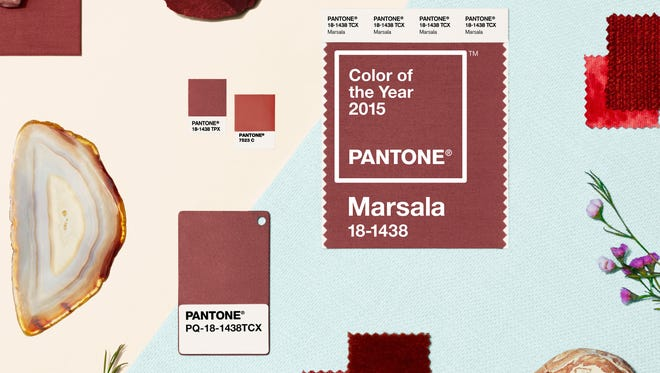 Marsala is an earthy red color.