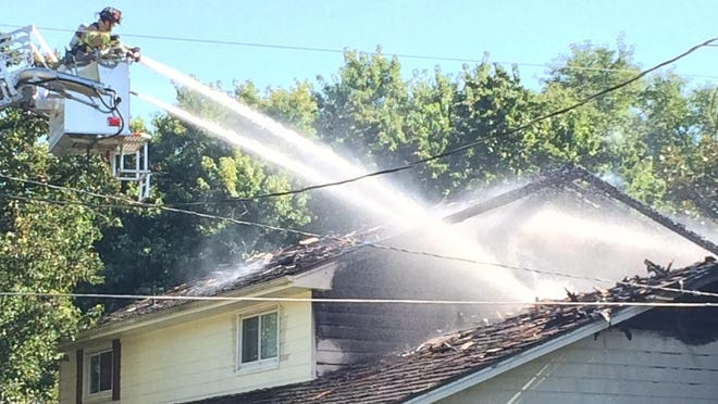 Crews are battled a house fire in east Springfield on Thursday afternoon.