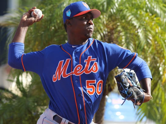 The Mets workout this morning.  Pitcher, Rafael Montero