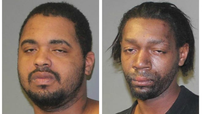 Michael Dewayne King (left) and Tommy Lee King (right) were arrested on weapons and obstruction charges after Lansing Fire Department paramedics were attacked with swords.