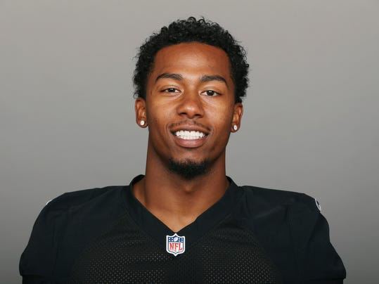 FILE - This is a June 27, 2017, file photo showing Sean Smith of the Oakland Raiders NFL football team. The Raiders are releasing cornerback Sean Smith to create more salary cap room heading into free agency. A person familiar with the move said Smith was told Monday, March 12, 2018, that he will be let go before the start of the new league year on Wednesday. The person spoke on condition of anonymity because the team hadn't announced the move. (AP Photo/File)