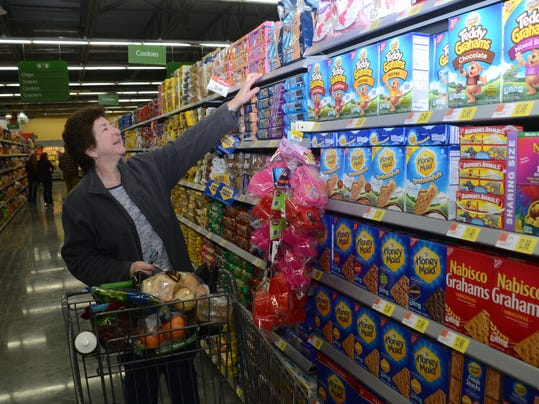 ANI Wal-Mart Joan Danzy shops at the new Wal-Mart Neighborhood Market on Highway 28 East in Pineville. The store hosted a grand opening Wednesday, Jan. 7, 2015. -Melinda Martinez/mmartinez@thetowntalk.com