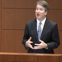 Supreme Court nominee Brett Kavanaugh spoke to law students at Marquette Law School