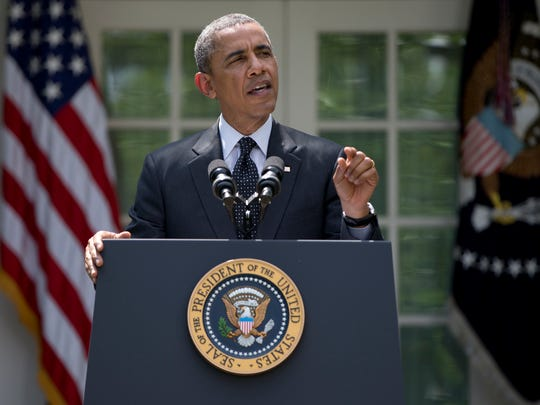 President Barack Obama said he will seek to keep 9,800 U.S. troops in Afghanistan after the war formally ends later this year and then will withdraw most of those forces by the end of 2016.