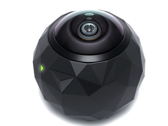 The 360fly camera is the shape of a ball, and offers