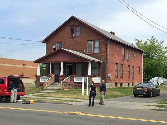 Police investigate the death of a man at 106 W. Second