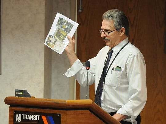 Public speaker and rail advocate Joseph Clift of Manhattan speaks during a recent joint public meeting held by the members of the Administration Committee and Customer Service Committee of NJ Transit's board of directors.
