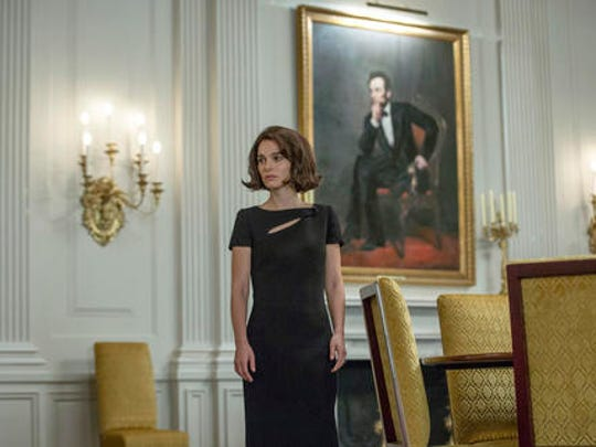 "This image released by Fox Searchlight shows Natalie Portman as Jackie Kennedy in a scene from the film, ""Jackie."""