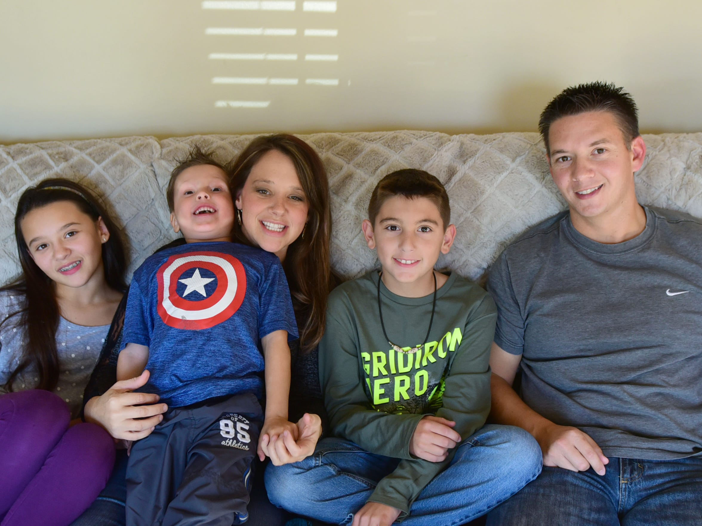Foster parents Micah and Michelle Bumbaugh have three of their own children, Ava, their biological daughter, and former foster children whom they adopted, Jameson and Christian. Micah and Michelle have been foster parents for 11 years in Chambersburg.