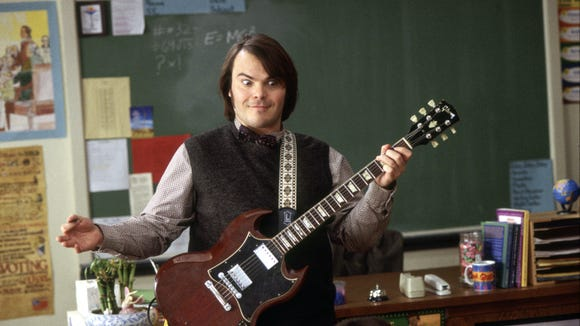 Jack Black in a classroom scene from the movie, 'School