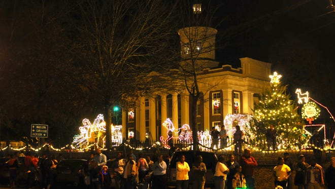 Scenes from the Canton Christmas celebration