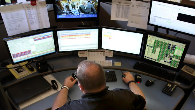 A Delaware County 911 dispatcher in 2014.