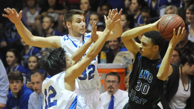 Spencer Norris (32) is a returning All-WNC forward for the Smoky Mountain boys basketball team.