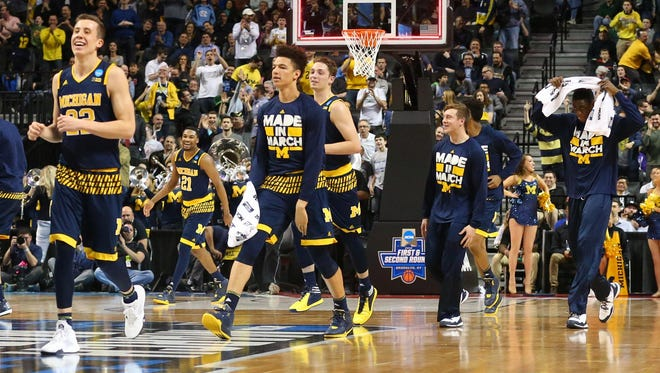 The Wolverines led Notre Dame at halftime, 41-29, Friday night, but their season ended after they faltered in the second half for a 70-63 loss.