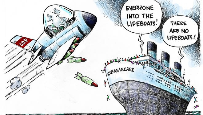 GOP and sinking Obamacare