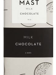 This elegantly-packaged chocolate bar is made in New