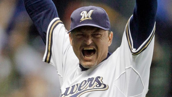Closer Trevor Hoffman played his final two seasons