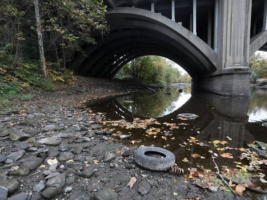 Drought has caused low flows on the Passaic River in