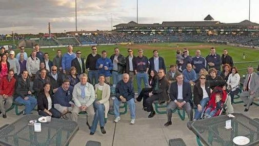 Members of Shore Builders Association enjoy a night at the BlueClaws.