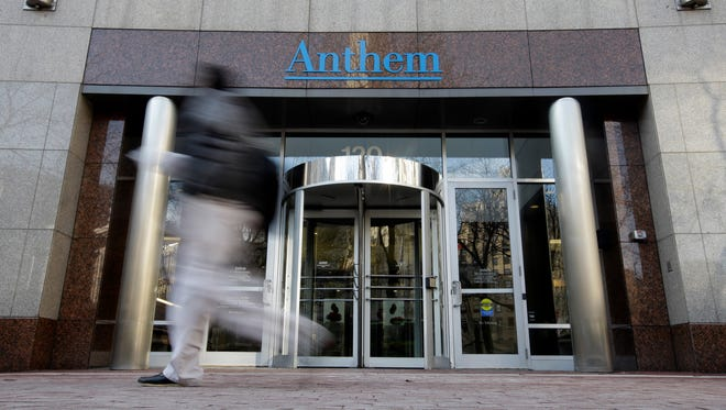 The corporate headquarters of health insurer Anthem  in Indianapolis is seen on Dec. 3.