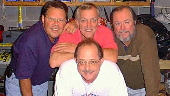 This photo taken in 2000 shows The Gants band. Don