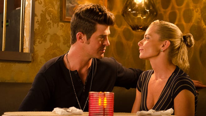 """Robin Thicke stars alongside Jaime Pressly in """"Making the Rules,"""" out on Blu-ray and DVD on Tuesday."""