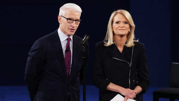 Anderson Cooper and Martha Raddatz moderated the second
