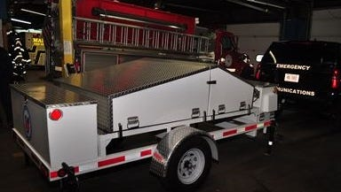 Richland County Emergency Management Agency recently received a mobile communications satellite trailer.
