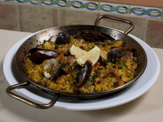 This is the Signature Mediterranean Paella from T Cook's