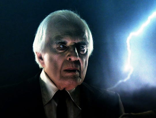 The late Angus Scrimm – Biblically lit by flashes of