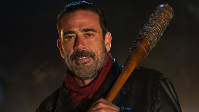 Jeffrey Dean Morgan plays Negan, the show's main baddie and central character of its 7th season.