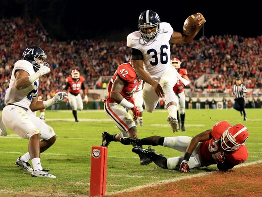 Georgia Southern running back Matt Breida rushed for