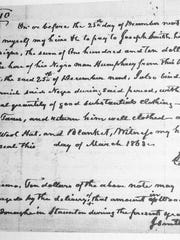 A slave hiring agreement from Augusta County.