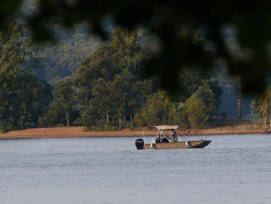 Rescue boats are seen on July 20, 2018 at Table Rock Lake in Branson, Mo. Seventeen people, including children, are dead after an amphibious duck boat capsized on a lake at this tourism hot spot during a severe thunderstorm.
