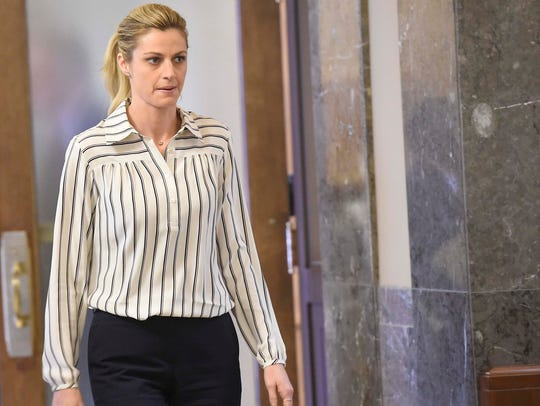 TV personality Erin Andrews returns to Judge Hamilton