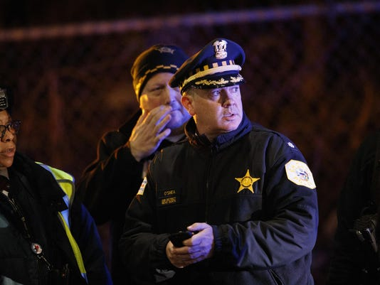 Train Strikes Officers Chicago