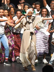 Model and former Apollo student Halima Aden made an appearance Friday, May 5, at the Apollo High School culture show.