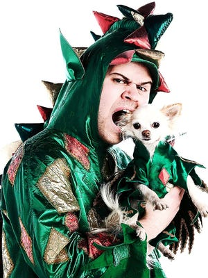 """Piff the Magic Dragon and his dog, Mr. Piffles, became famous after appearing on NBC's """"America's Got Talent."""""""