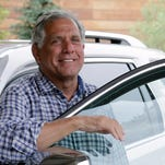 Leslie Moonves, president and chief executive officer of CBS Corp., arrives for Allen and Company 33rd Annual Media and Technology Conference, in Sun Valley, Idaho, USA, 7 July 2015.