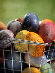 Easter eggs take on nature's palette when spices and produce are used for the coloring agents.