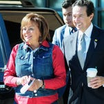 Gov. Susana Martinez and Jon Barela, economic development secretary join with other state, Doña Ana County and New Mexico State University leaders in this file photo announcing the imminent arrival of New Mexico Greenhouse Holdings, a greenhouse production company, into the building that used to house Aldershot Nursery on North Main Street. The facility is expected to hire as many as 120 employees, with 45 positions needed to be filled within the next few weeks.
