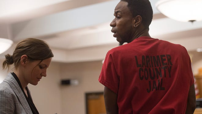 """Jeffery Etheridge leaves the courtroom after making a first appearance on three charges including first degree murder, sexual assault and second degree kidnapping at Larimer County Justice Center on Friday, July 7, 2017. Charges relate to the death of Heather """"Helena"""" Hoffmann, whose body was found in Sheldon Lake on June 21."""