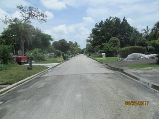 Karen Drive on Monday, Aug. 28, after a weekend of