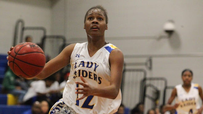 Rickards' Tamia Riles scored 22 points in the Raiders' 69-36 district-title win over Godby.